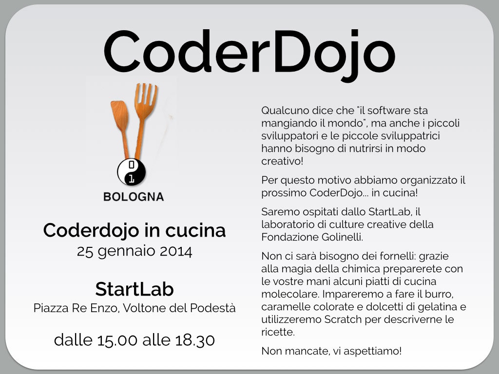 Coderdojobo coderdojobo in cucina coderdojo bologna - In cucina bologna ...